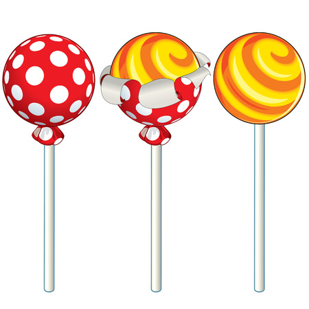 colourful candy: Unwrapping sweet lollipop -  illustration,.  To see more - please visit at my gallery.