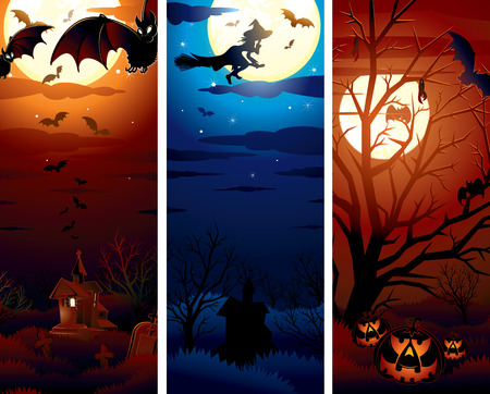 Halloween theme illustrations for your text or design   Vector