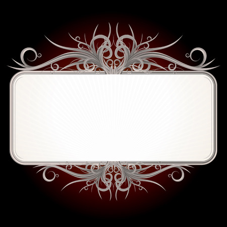 Gothic style sign for your text or design Vector