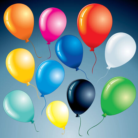 Brightly celebrating balloons for your design project  Vector