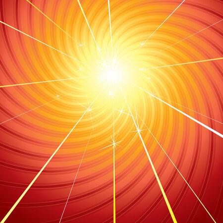Creative   sunburst Illustration