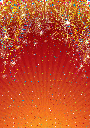 parade confetti: Plantilla de fondo multicolor festivo