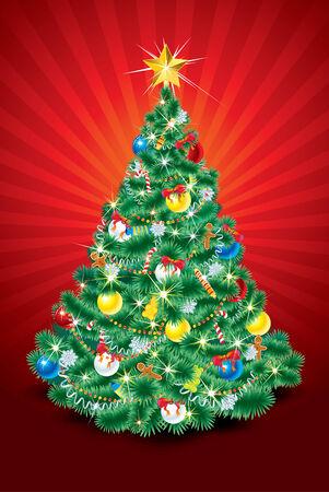 Christmas tree  illustration Stock Vector - 8186197