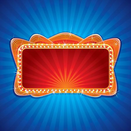 Gloeiende neon sign - afbeelding voor uw feestelijke ontwerp of groet tekst Vector Illustratie