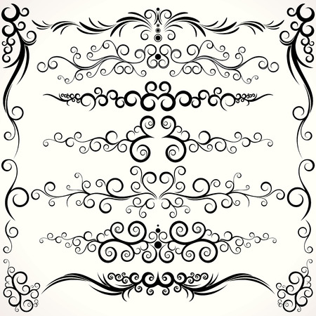 Abstract design elements collection - clip-art Stock Vector - 8186162