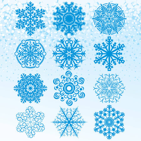 Snowflakes collection -   clip art Stock Vector - 8186170