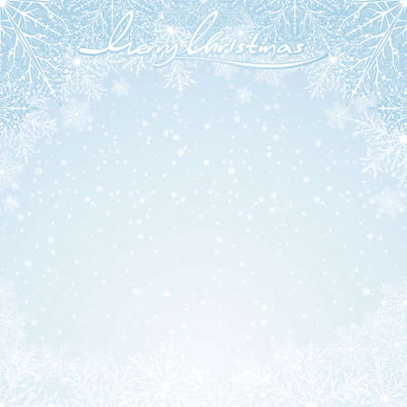 Christmas winter background -   for your celebrating and greeting text. Stock Vector - 8186194