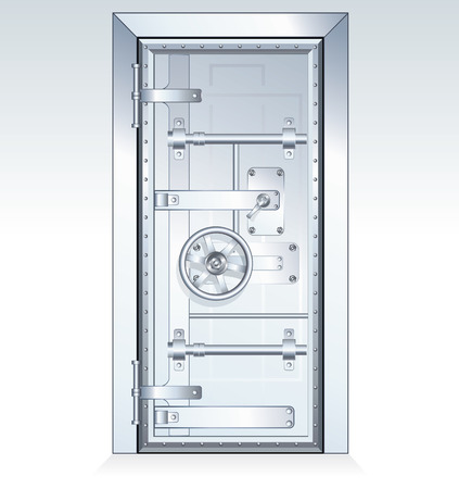 safe lock: Bank Vault Door - scalable vector illustration Illustration