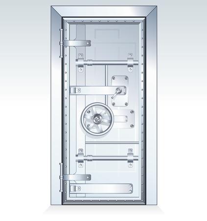 cajas fuertes: Puerta de la caja fuerte de Banco - ilustraci�n vectoriales escalables