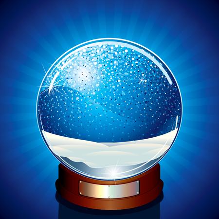 glint: Cl�sico nieve Globe - ilustraci�n vectorial listo para su propio objeto o dise�o