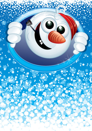 Snowman card for your text Vector