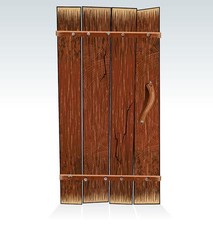 furnier: Alte Stallt�re - Vektor-Illustration