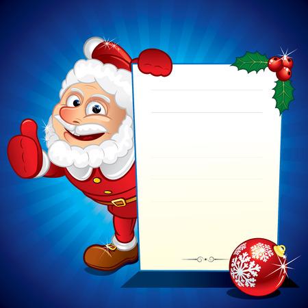재미있는 산타 클로스 Speacial 판매 서명을 들고 일러스트