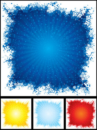 Vector Snow borders with brightly color backdrops Stock Vector - 8364013