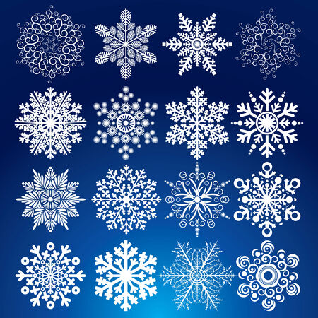 Decorative   Snowflakes Stock Vector - 8403135