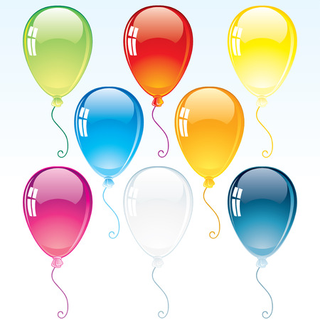 Glossy Decoration Balloons Vector