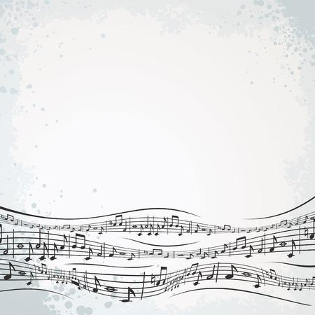 pentagrama musical: Composici�n musical abstracta para texto o dise�o