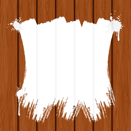Painting Wooden Fence for your text Stock Vector - 9060758