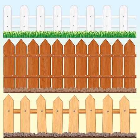 granero: Conjunto de vallas de madera sin problemas y palisades