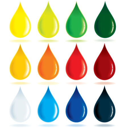 variety: Colorful Ink Drops Illustration