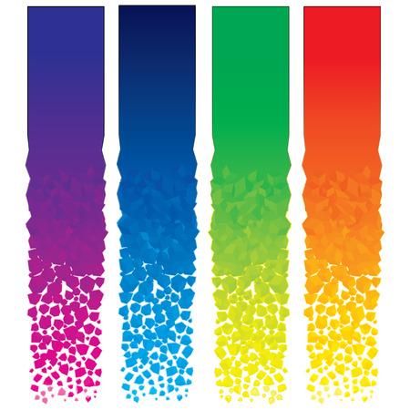 header: Set di banner verticali colorate