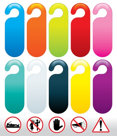 disturb: Do not Disturb Signs - Colorful vector template for your text