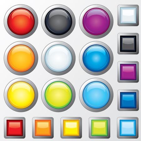透明度とメッシュない光沢の Web ボタン