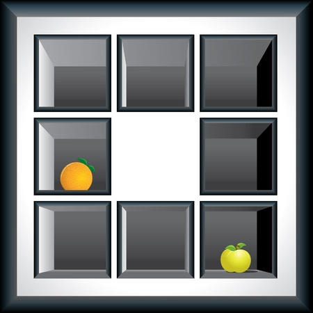 Exhibition Shelves for your items Vector