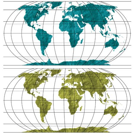 World Map Textured Silhouettes for your design Stock Vector - 9814395