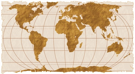 vintage world map: Vector Ancient Map of the World