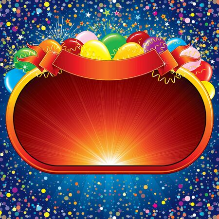 Celebration Background, vector template ready for your own festive design or text. Stock Vector - 9944490