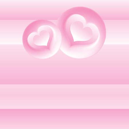 Romantic Pink Card vector template Stock Vector - 9932832