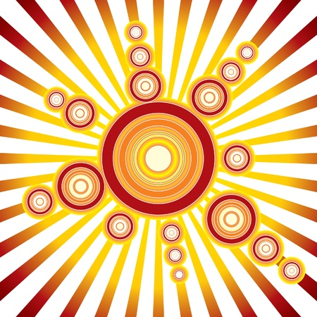 psychedelic background: Retro Sun - vector Background