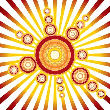 Retro Sun - fondo de vectores Ilustración de vector