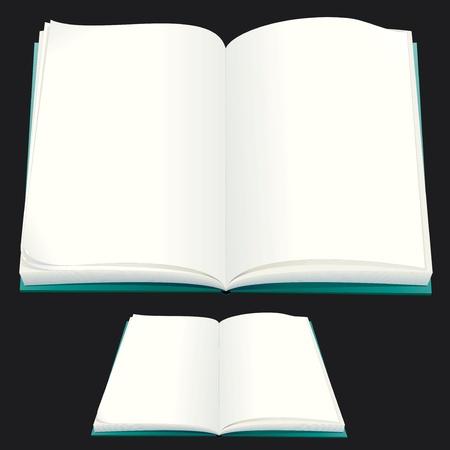 apriva:  Vector Blank Book di carta per il vostro testo o progettazione Vettoriali