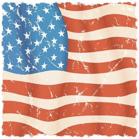 American Flag theme, grunge vector background Vector
