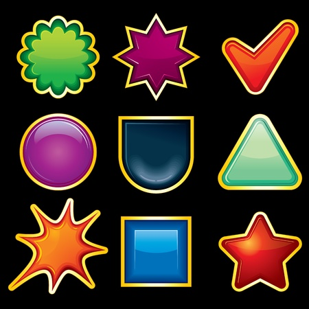 Blank Shiny vectorTemplates for your own icons or buttons Vector
