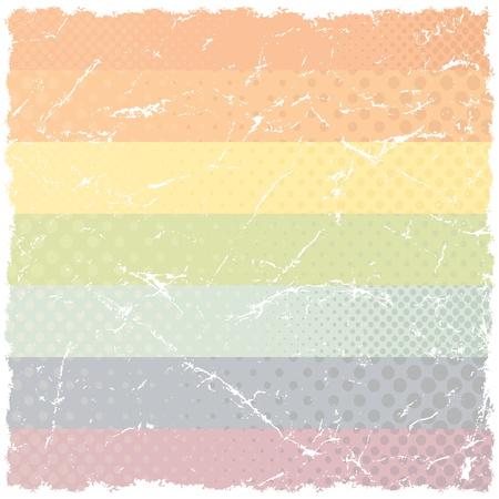 arco iris vector: Grunge rayado arco iris del vector Contexto Vectores