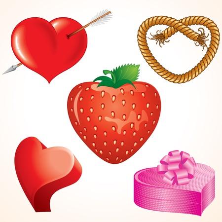 Diseño corazones, colección de vectores de símbolos del amor