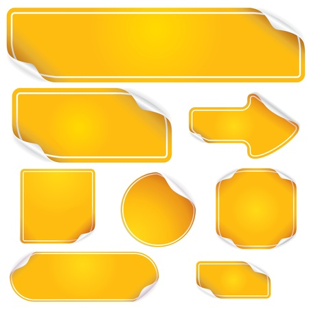 Stickers and Labels, blank vector templates for your text Stock Vector - 10725163