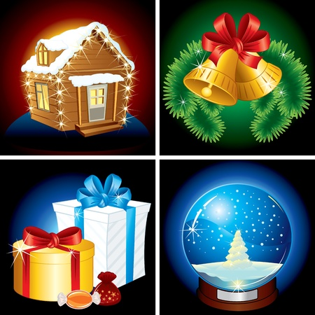 Detailed Vector Christmas Icons and illustrations Vector