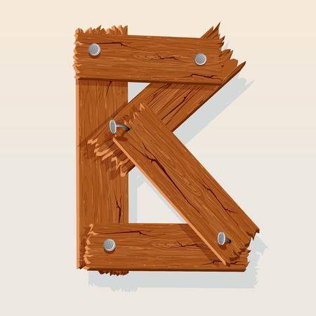 B Letter From Alfabeto vettoriale in legno