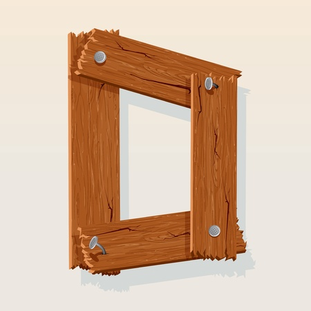Letter D From vector Wooden Alphabet Vector