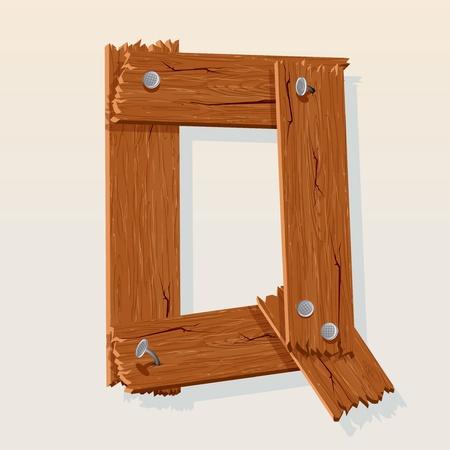 Letter Q From vector Wooden Alphabet Stock Vector - 10851045