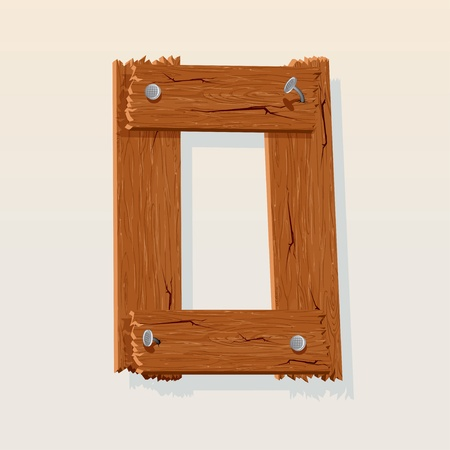 nulo: 0 n�mero de Grunge alfabeto de madera, elemento aislado de dise�o vectorial