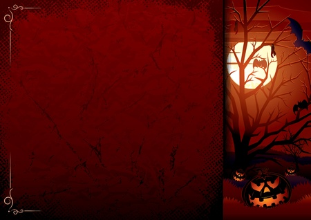 Grunge Halloween Background.  Vector