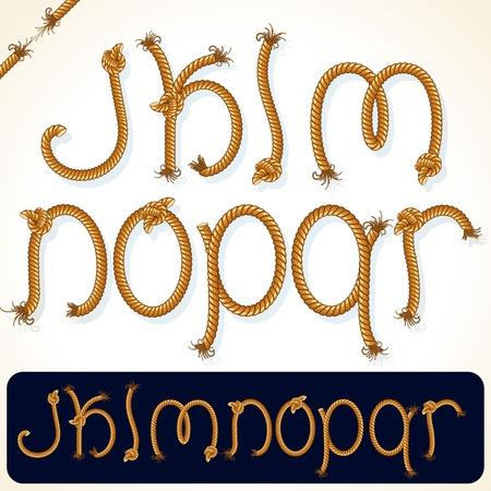 serie: Detaillierte Rope Alphabet f�r Ihren Text oder Design Illustration