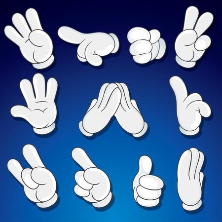 집게 손가락: 코믹 만화 손, 제스처, 징후 벡터 클립 아트 일러스트