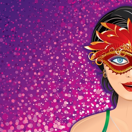 femme: Festive Carnival Vector Background for your Text or Design