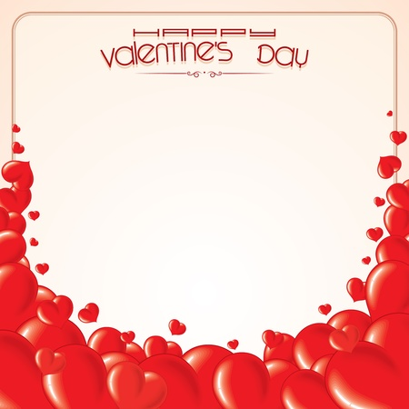 happy valentine s day: Vector Hearts Background for your Text or Design